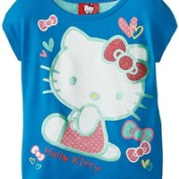 Hello Kitty Girls' Printed Chiffon Back Tee