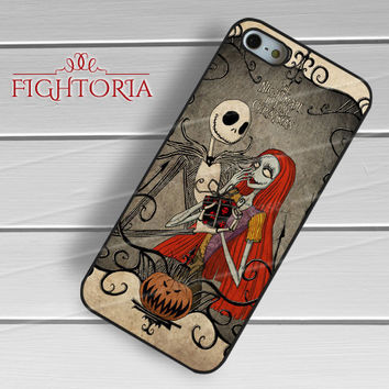 Nightmare before christmas Jack and Sally gift box present -sww for iPhone 6S case, iPhone 5s case, iPhone 6 case, iPhone 4S, Samsung S6 Edge