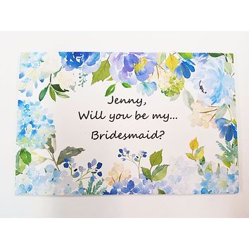 "Will you be in my Wedding with choice of Optional Frame.  Ask your  Junior Bridesmaid?  Maid of Honor? (4""x6"") #2"