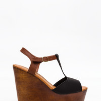 Wood You Rather T-Strap Wedges GoJane.com