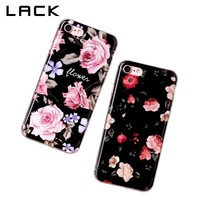 LACK Retro Flowers Painting Phone Case For iphone 8 Case Fashion Geometry Marble Back Cover Soft TPU Cases For iphone8 8 Plus