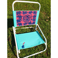 Lilly Pulitzer Hand Painted Monogram Beach Chair