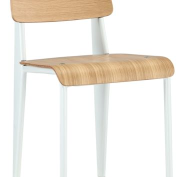 Prouve Style Side Chair - Natural and White