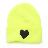 Love Made Geo Heart Beanie at PacSun.com
