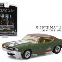 "Bobby\'s 1971 Chevrolet Chevelle SS Supernatural \2005 Current TV Series"" 1/64 Diecast Model Car by Greenlight"""