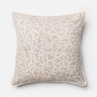 Loloi Beige / White Decorative Throw Pillow (P0149)