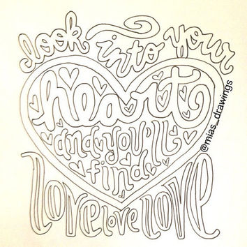 I'm Yours Jason Mraz lyric art by Miasdrawings on Etsy