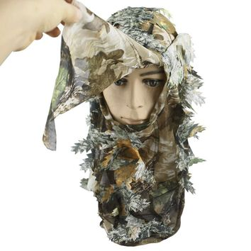 Outdoor Bionic Camouflage Full Face Mask Hood Balaclava Headgear Caps Camouflage Hunting Hat Headwear Masks Camo Hats