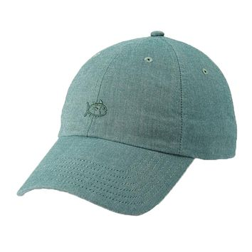 Oxford Chambray Skipjack Hat in Myrtle by Southern Tide
