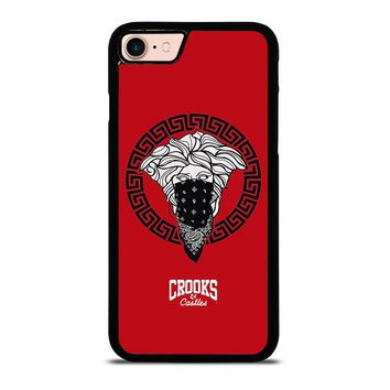 CROOK AND CASTLES BANDANA RED iPhone 8 Case Cover