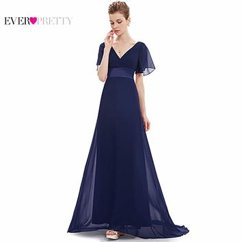 Evening Dresses EP09890 Padded Trailing Flutter Sleeve Long Women Gown 2018 New Chiffon Summer Style Special Occasion Dresses+