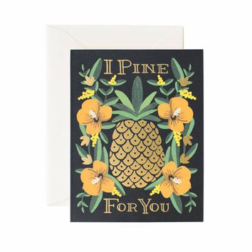 I Pine For You Greeting Card by RIFLE PAPER Co. | Made in USA