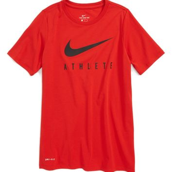Nike Dry Swoosh Athlete T-Shirt (Little Boys & Big Boys) (Regular Retail Price: $25.00) | Nordstrom