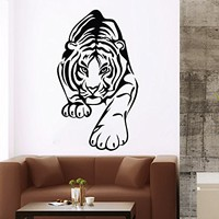 Wall Decal Tiger Leopard Print Jaguar Panther Wild Cat Wildcat African Animals Safari Vinyl Sticker Home Décor Bedroom Nursery Room Living Room Murals NS945