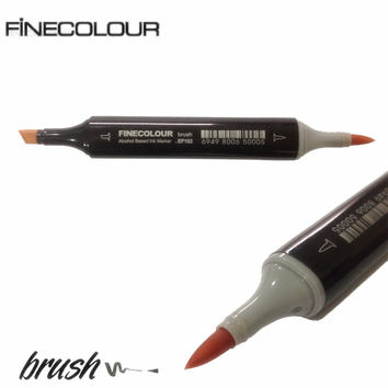 Finecolour EF102 Brush Markers Alcohol Based Sketch Paint Art Marker Pen 36 48 60 72 Colors set