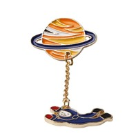 Star Astronaut Rabbit  Brooches Pin Up Jewelry For Women Suit Hats Clips Corsages  Bijoux Brooch Bijouterie Free Shipping