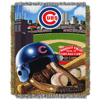 Chicago Cubs MLB Woven Tapestry Throw (Home Field Advantage) (48x60)