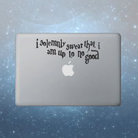 Harry Potter Mac Decal Macbook Stickers Macbook by letsdoscience