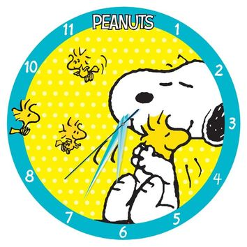 Snoopy and Woodstock Large Cordless Wood Wall Clock