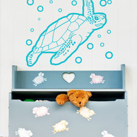 Vinyl Wall Decal Sticker Sea Turtle #OS_AA220