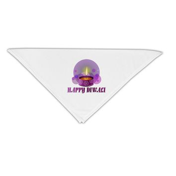 """Happy Diwali Purple Candle Adult 19"""" Square Bandana by TooLoud"""