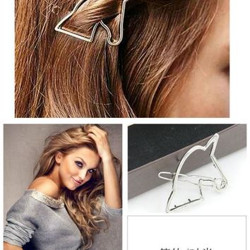Hot Sale Good Quality Alloy Gold Silver Unicorn Hair Clip Girls Jewelry Hairpin Europe Headwear Hair Accessories Barrette