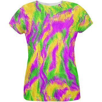 Mardi Gras Bourbon Street Monster Costume All Over Womens T Shirt