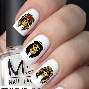 Guns N' roses skulls nail Decals