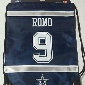 Tony Romo #9 Dallas Cowboys Jersey Back Pack/Sack Drawstring gym Bag