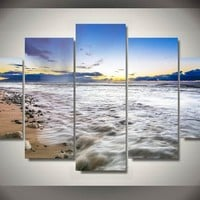 Ocean Good Morning 5-Piece Wall Art Canvas