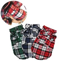 Plaid Dog Clothes Summer Dog Shirts for Small Medium Dogs