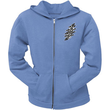 Grateful Dead - Black & White Calaveras Light Blue Juniors Zip Hoodie