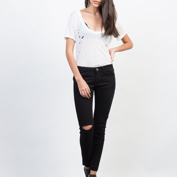 Release Those Hemlines Skinny Jeans