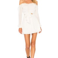 Lovers + Friends Sunrise Dress in White Sand
