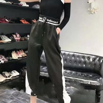 """TB""Woman's Leisure Fashion Letter Printing Sleeveless  Sleeve Trousers Two-Piece Set Casual Wear"