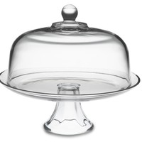 Monogrammed Glass Domed Cake Plate/Punch Bowl