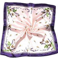 Silk Scarf Satin Square Printed For Women Brand Scarves Bandana Necker Chief Office Lady Gift #ED