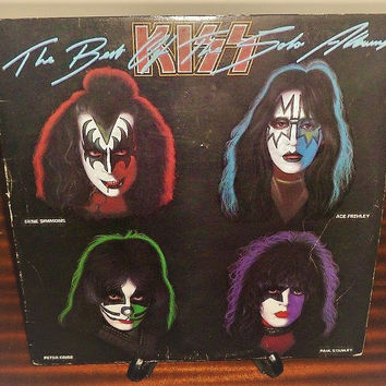 Vintage 1980 KISS - The Best of the Solo Albums - Vinyl Record Album LP in Great Condition / Hard Rock Album