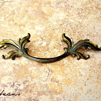 French Provincial Drawer Pulls Brass Drawer Pulls KBC Dresser Pulls Vintage Drawer Pulls Decorative Drawer Pulls Victorian Dresser Pulls