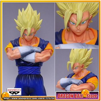 "Japanese Anime ""Dragon Ball Z Kai"" Original BANPRESTO Master Stars Piece (MSP) Action Figures - Vegetto Super Saiyan"