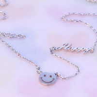 Happy Smile Face Necklace/ Always Be Happy