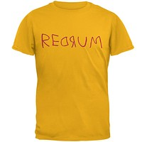 Halloween Horror Redrum Mens T Shirt