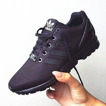 Adidas Fashion Women ZX FLUX Running Sport Casual Shoes Sneakers Black