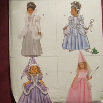 SALE Uncut Butterick Sewing Pattern, 4630! 2 Choices, 6-7-8 or 2-3-4-5, Girls, Princess/Queen/Fairy/Renaissance/Historical Halloween Costume