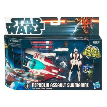 Star Wars Class 1 Fleet Vehicles Republic Sub With Scuba Clone Trooper