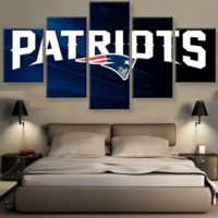 New England Patriots 5 Piece Canvas Set