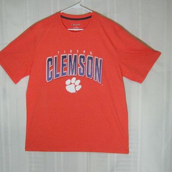 Clemson Tigers Adult Large CHAMPION SPORT TEE SHIRT unisex