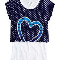 Dot Crop Over Long Tee | Girls {category} {parent_category} | Shop Justice