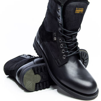G-Star Patton V Marker Mix Black with Denim Boot