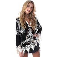 Lace Swimsuit Crochet cover up